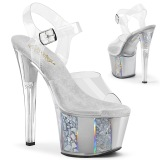 Gray transparent 18 cm SKY-308OF Exotic stripper high heel shoes