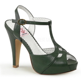 Green 11,5 cm BETTIE-23 High Heeled Evening Sandals