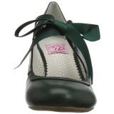 Green 6,5 cm WIGGLE-32 retro vintage cuben heels maryjane pumps
