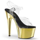 Gull 18 cm ADORE-708 høye hæler krom platå