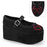 Heart canvas 8 cm CLICK-02-1 lolita shoes gothic platform shoes