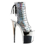 Hologram 20 cm FLAMINGO-1018HG womens platform ankle boots