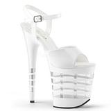 Hvit 20 cm Pleaser FLAMINGO-809LN høye hæler damer sko