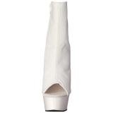 Hvit Matt 15 cm DELIGHT-1018 platå ankel høye støvler