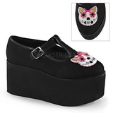 Kitty canvas 8 cm CLICK-04-1 lolita shoes gothic platform shoes