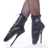 Leather 18 cm BALLET-1025 fetish ballet ankle boots