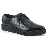 Leather 3 cm CREEPER-712 Platform Mens Creepers Shoes