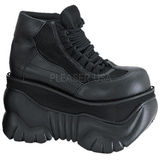 Leatherette 10 cm BOXER-01 Platform Mens Gothic Shoes