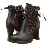 Leatherette 10 cm DEMONIA CRYPTO-51 platform womens ankle boots