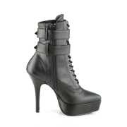 Leatherette 13,5 cm INDULGE-1026 ankle boots stiletto high heels
