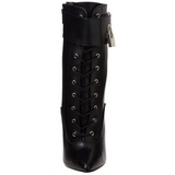 Leatherette 16 cm DAGGER-1023 Lace Up Ankle Calf Women Boots