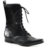 Leatherette 4 cm BROGUE-10 Winklepicker Mens Gothic Ankle Boots