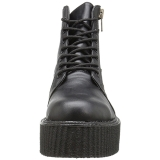 Leatherette 5 cm CREEPER-571 Platform Mens Creepers Ankle Boots
