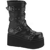 Leatherette 8,5 cm TRASHVILLE-205 Platform Mens Gothic Boots