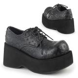 Leatherette 8 cm DANK-111 lolita shoes gothic platform shoes