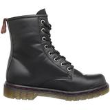 Leatherette Black DEFIANT-100 Mens Lace Up Ankle Boots