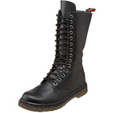 Leatherette Black DEFIANT-300 Mens Lace Up Boots