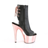 Leatherette Gold 18 cm Pleaser ADORE-1018 Chrome Platform Ankle Calf Boots
