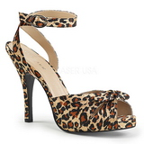 Leopard Satin 12,5 cm EVE-01 big size sandals womens