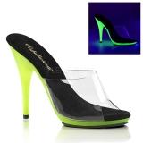 Lime Neon 13 cm POISE-501UV Platform Mules Shoes