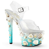 Musling 18 cm SKY-308MERMD høyhælte sandaler sko