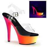 Neon 15 cm Pleaser RAINBOW-208UV Pole dancing high heels shoes