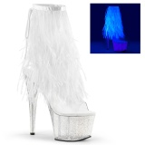 Neon 18 cm ADORE-1017MFF Pole dancing fringe ankle boots