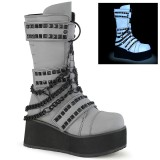 Neon 8,5 cm TRASHVILLE-138 demonia boots - unisex platform boots