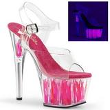 Neon Pink 18 cm Pleaser ADORE-708FLM høye hæler damer sko