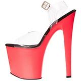 Neon Pink 18 cm Pleaser TABOO-708UV høye hæler damer sko