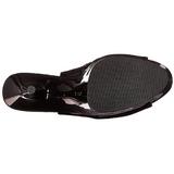 Patent 16 cm Pleaser DELIGHT-600-20 Platform Ankle Calf Boots