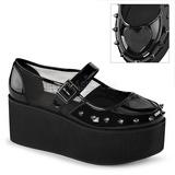 Patent 7 cm GRIP-01 lolita shoes gothic platform shoes