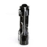 Patent 9,5 cm PETROL-150 demonia boots - unisex platform boots