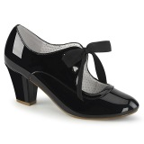 Patent Black 6,5 cm WIGGLE-32 retro vintage cuben heels maryjane pumps
