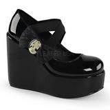 Patent Leather 13 cm POISON-02 Platform Wedge Pumps Shoes