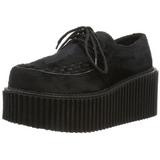Pels 7,5 cm CREEPER-202 creepers sko dame platåsko tykke såler