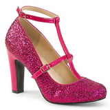 Pink Glitter 10 cm QUEEN-01 big size pumps shoes