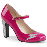 Pink Patent 10 cm QUEEN-02 big size pumps shoes