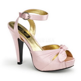 Pink Satin 12 cm PINUP COUTURE BETTIE-04 High Heels Platform