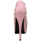 Pink Shiny 14,5 cm Burlesque BORDELLO TEEZE-06 Platform Pumps