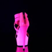 Pink neon 15 cm DELIGHT-669UV Pole dancing high heels shoes
