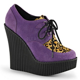 Purple Leatherette CREEPER-304 creepers wedges women shoes