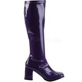 Purple Patent 7,5 cm Funtasma GOGO-300 Women Knee Boots
