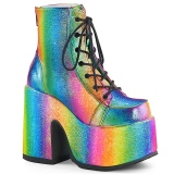 Rainbow 13 cm DEMONIA CAMEL-203 goth ankle boots