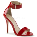 Red 13 cm Pleaser AMUSE-10 high heeled sandals