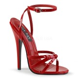 Red 15 cm DOMINA-108 fetish high heeled shoes