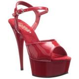 Red 15 cm Pleaser DELIGHT-609 High Heel Platform