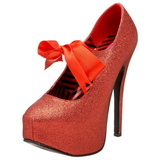 Red Glitter 14,5 cm TEEZE-04G Womens Shoes with High Heels