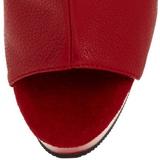 Red Matte 15 cm DELIGHT-1018 Platform Ankle Calf Boots