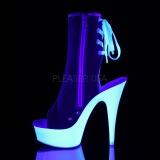 Red Neon 15 cm DELIGHT-1018SK Canvas high heels chucks